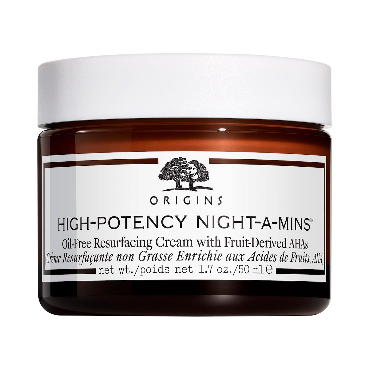 HIGHPOTENCY NIGHTAMINS™ OILFREE RESURFACING CREAM WITH FRUIT DERIVED AHAS