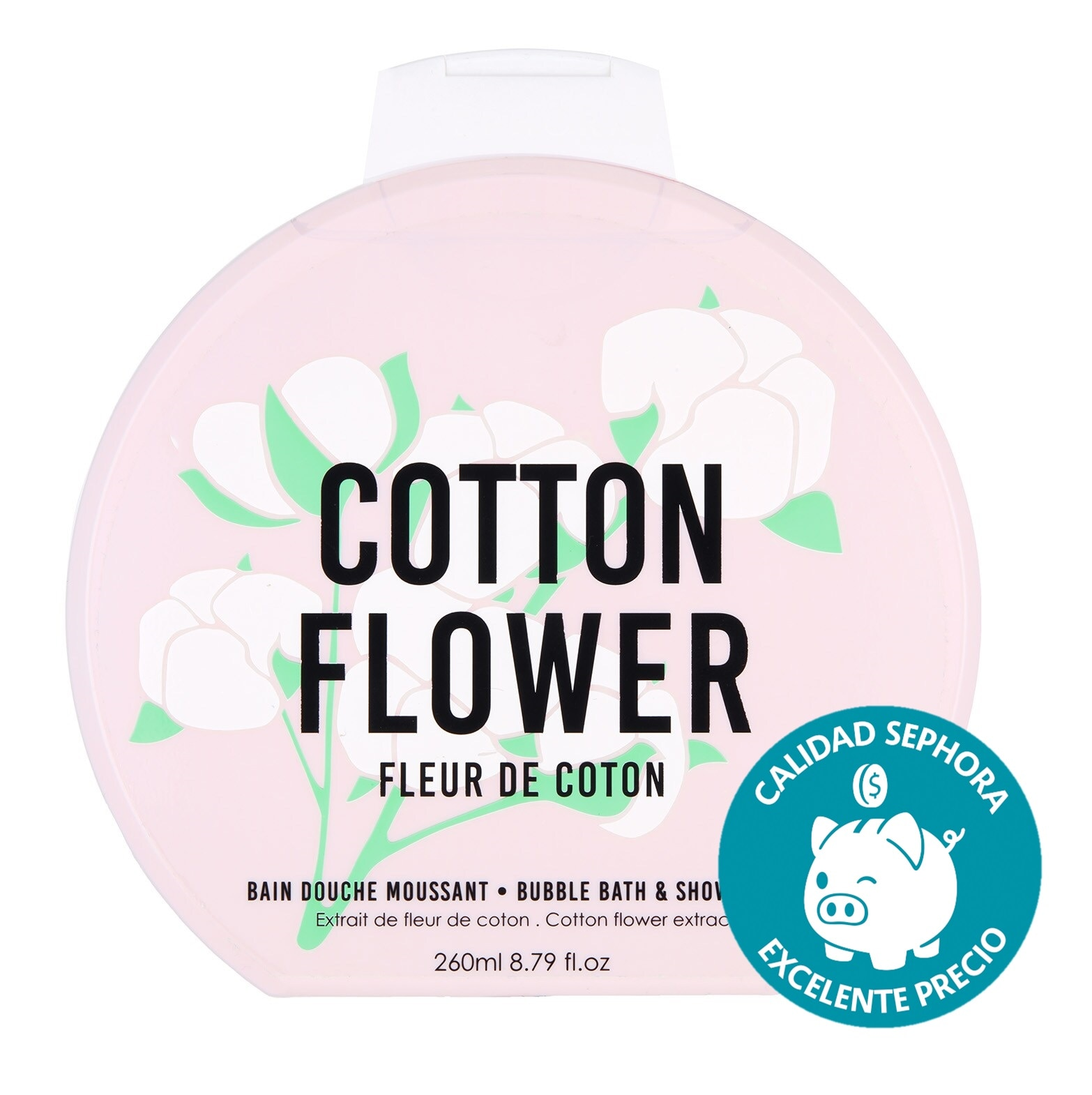 BUBBLE BATH & SHOWER GEL COTTON FLOWER 260ML