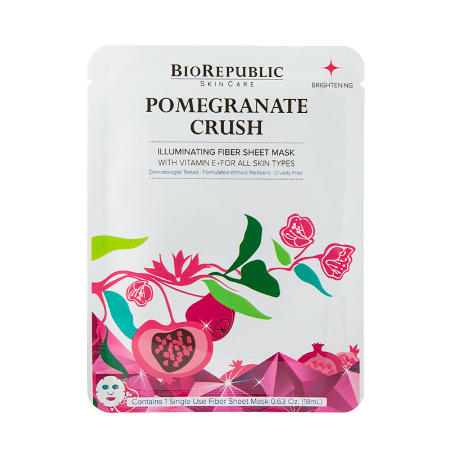 POMEGRANATE CRUSH ILLUMINATING FIBER MASK (MASCARILLA PARA ROSTRO)