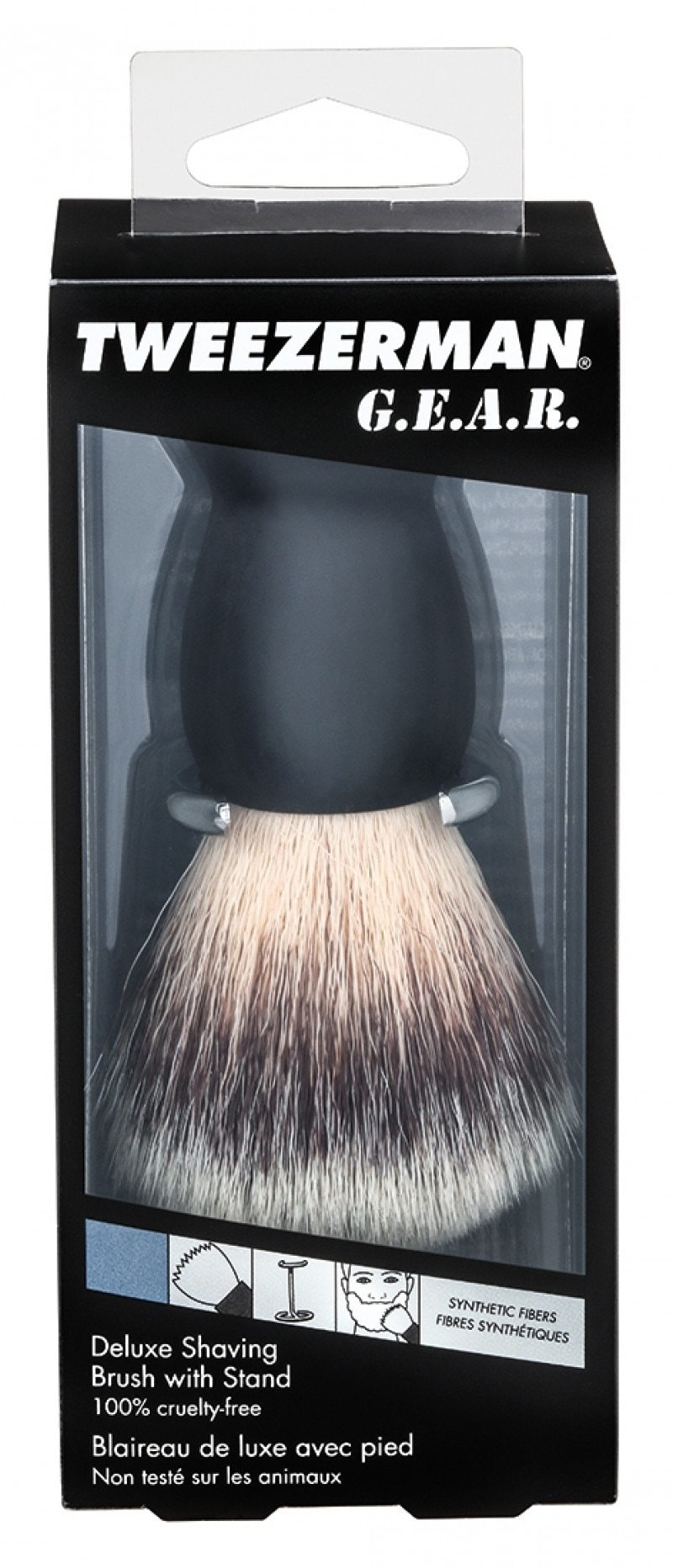 SHAVE BRUSH AND STAND KIT
