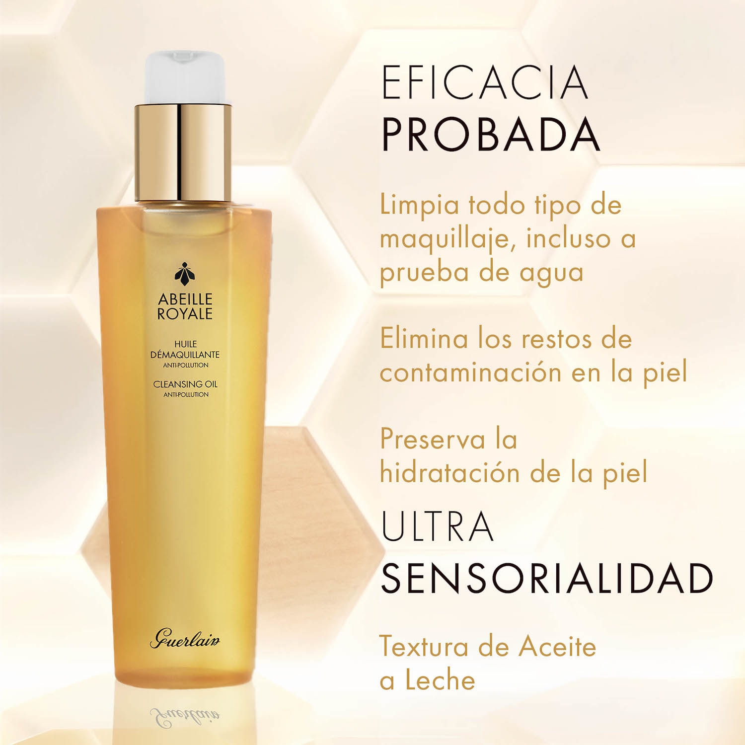 ABEILLE ROYALE ACEITE DESMAQUILLANTE ANTICONTAMINACIÓN 150ML