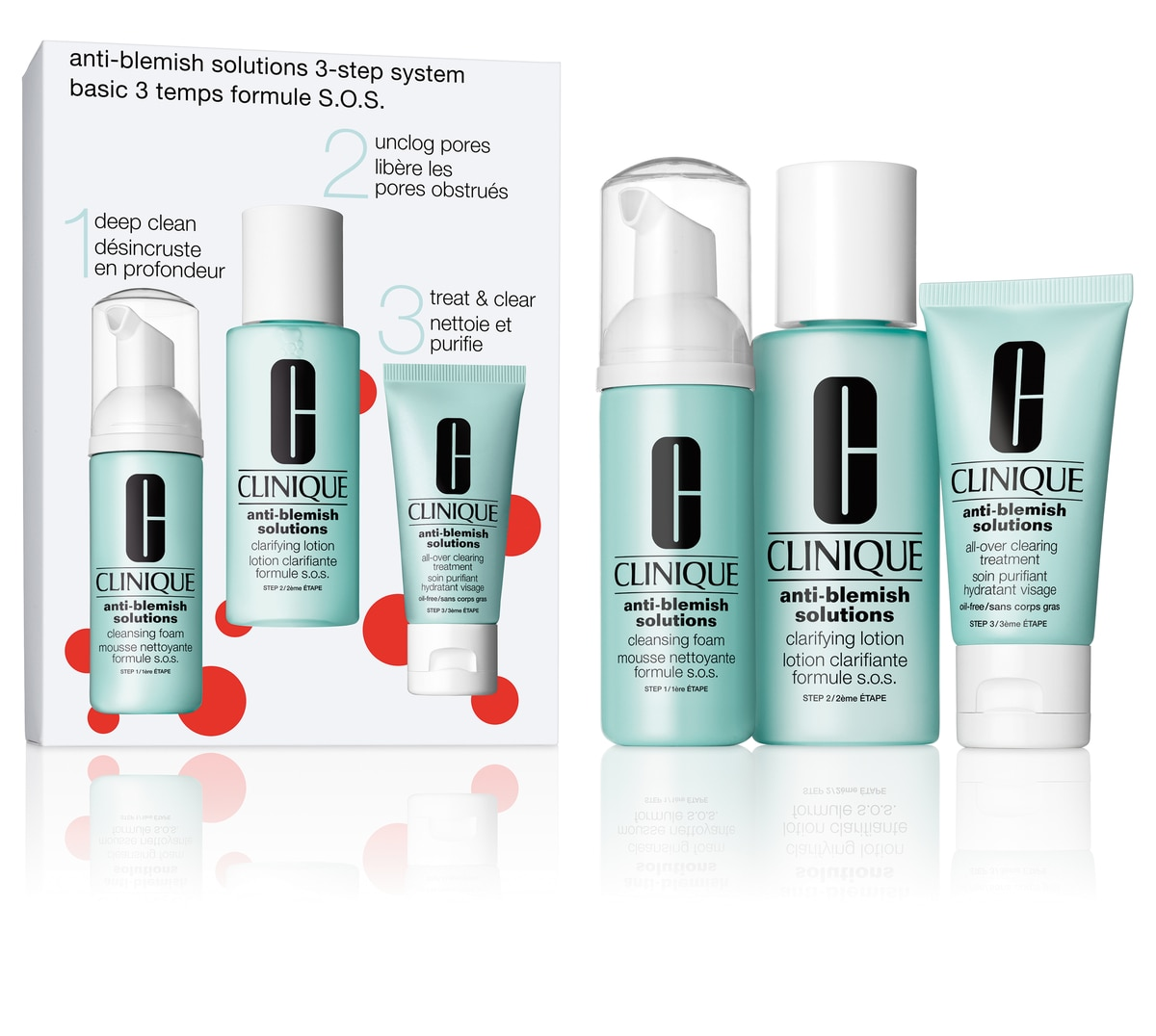 ACNE SOLUTIONS CLEAR SKIN 3 STEP KIT