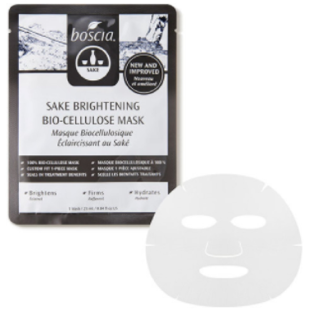 BOSCIA SAKE BRIGHTENING BIO-CELLULOSE MASK (MASCARILLA)