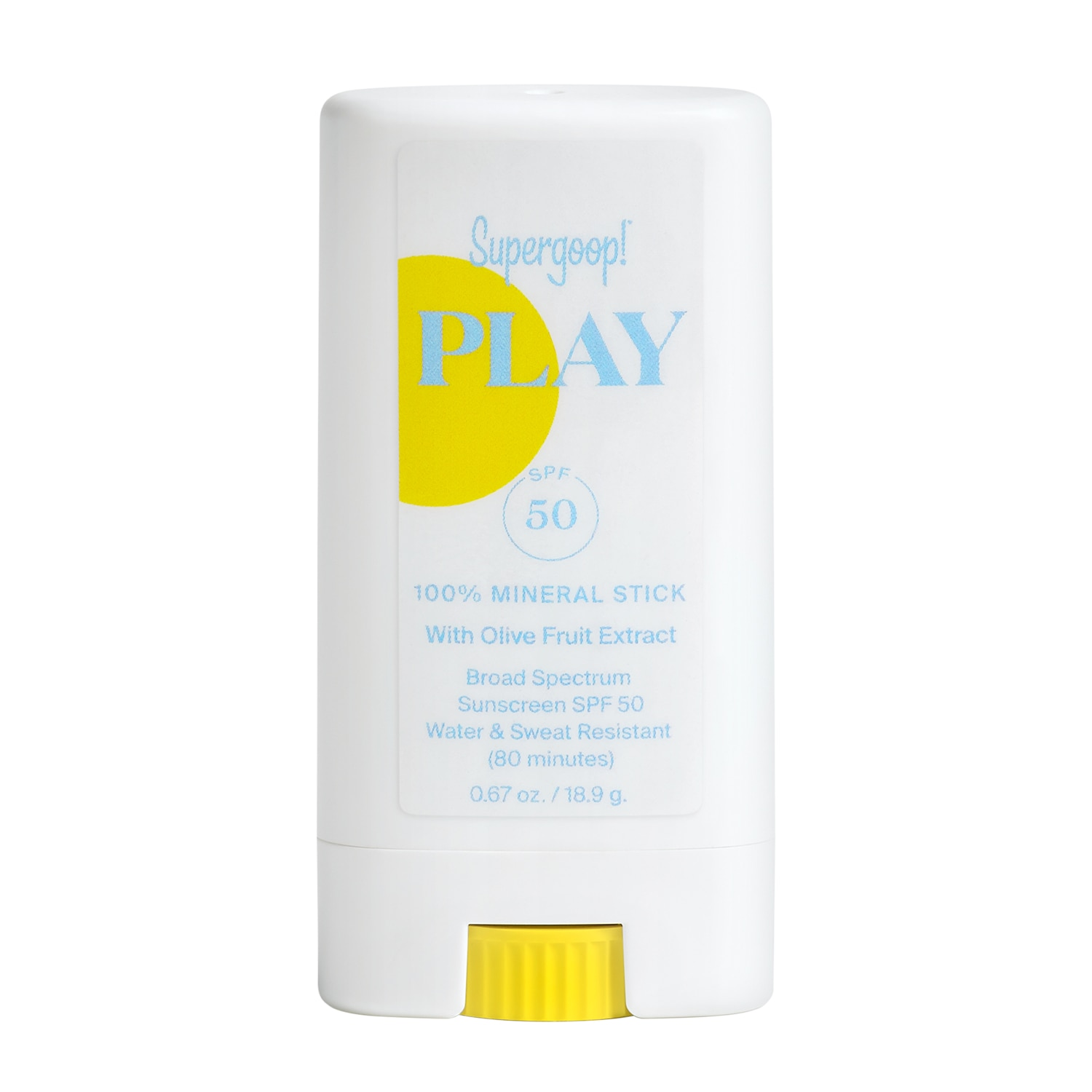 PLAY 100% MINERAL STICK SPF 50 WITH OLIVE FRUIT EXTRACT