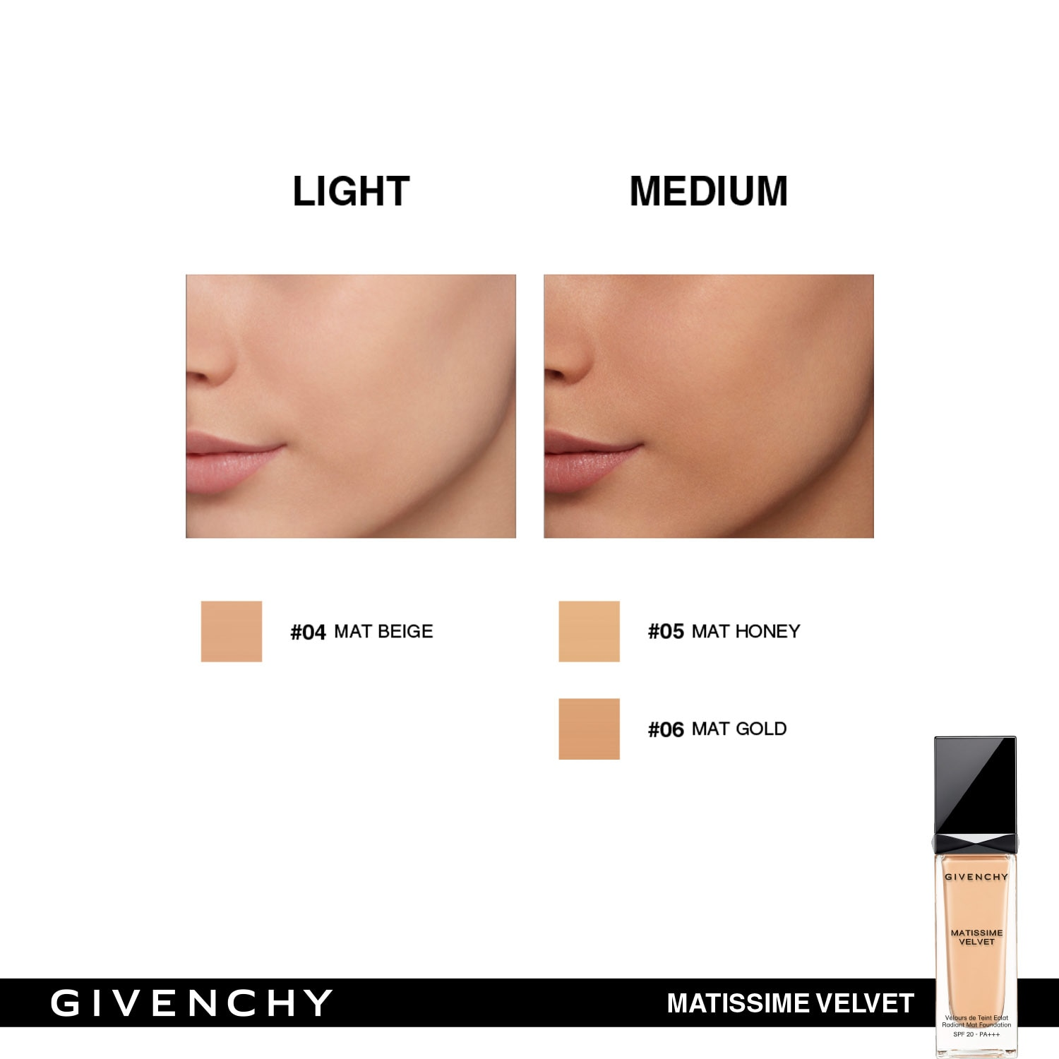 MATISSIME VELVET FOUNDATION SPF 20 (BASE DE MAQUILLAJE SEMI-MATE)