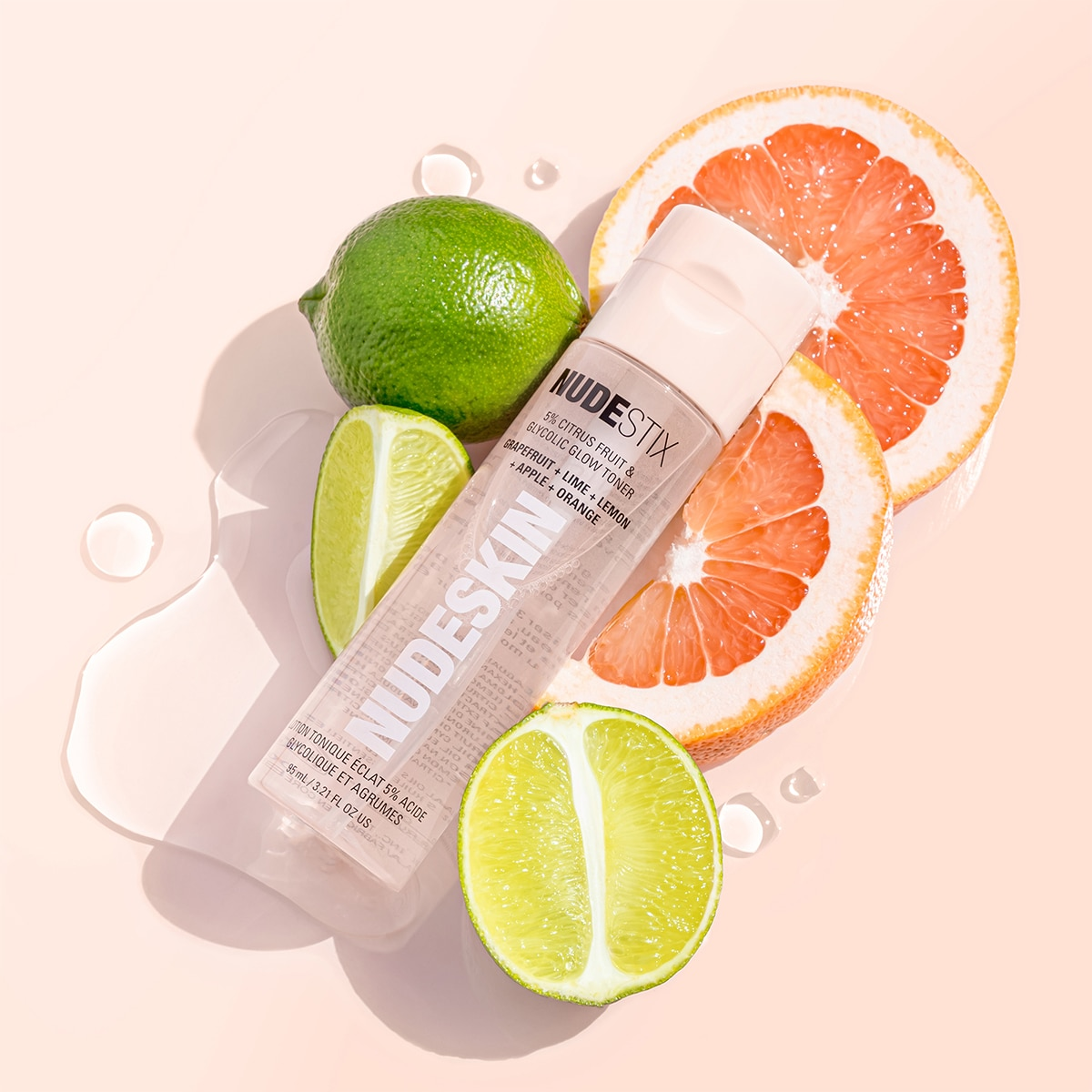 NUDESKIN 5% CITRUS FRUIT & GLYCOLIC GLOW TONER 95ML (TÓNICO FACIAL)