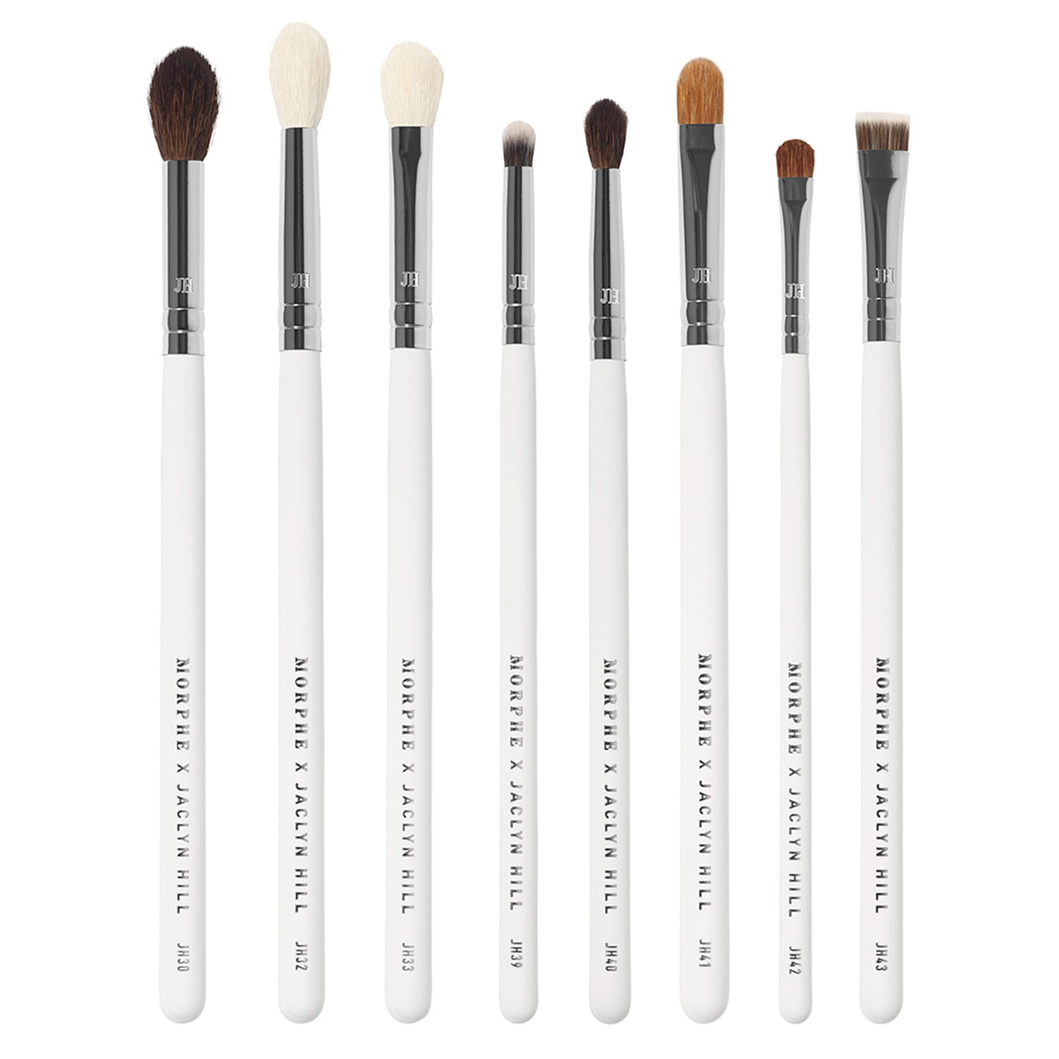 MORPHE X JACLYN HILL THE EYE MASTER BRUSH SET (8 BROCHAS PARA OJOS PERSONALIZADAS + BOLSA)