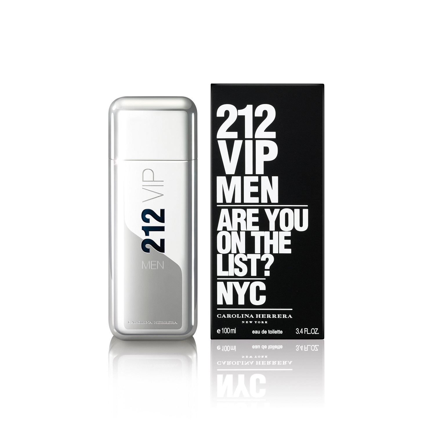 FRAGANCIA PARA CABALLERO, CAROLINA HERRERA, 212 VIP MEN, EAU DE TOILETTE, 100 ML