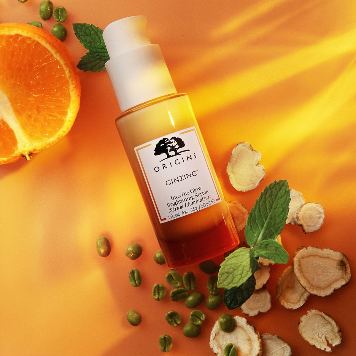 GINZING™ INTO THE GLOW BRIGHTENING SERUM