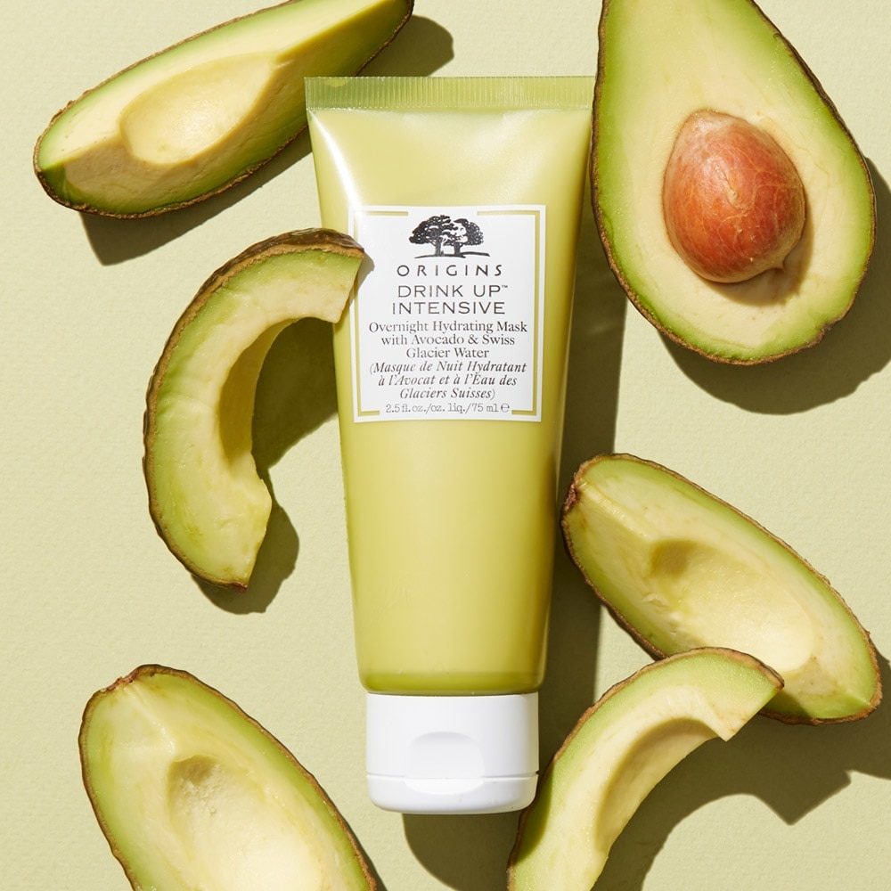 DRINK UP™ INTENSIVE OVERNIGHT HYDRATING MASK WITH AVOCADO & GLACIER WATER 75ML