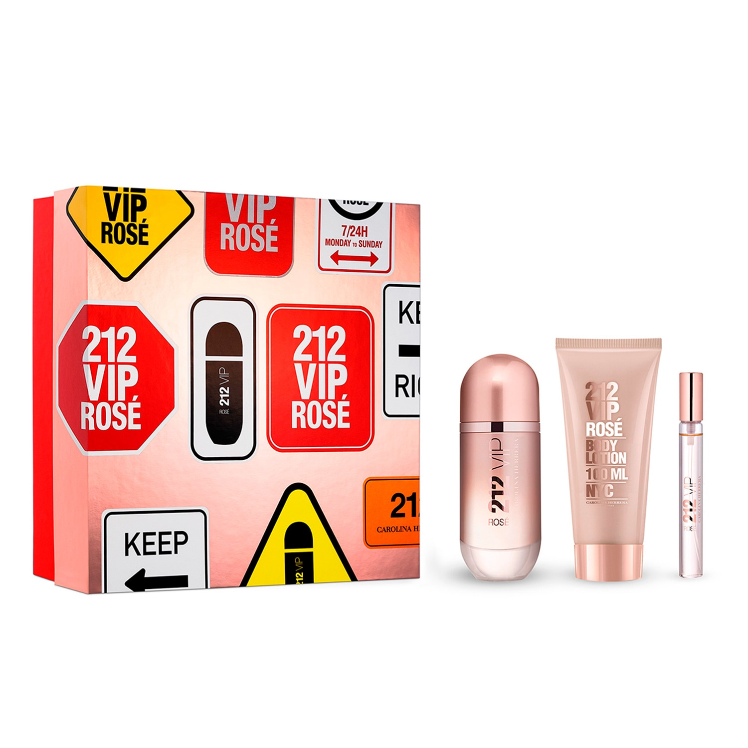 212 VIP ROSÉ EDP 80ML + BODY LOTION 100ML + SPRITZER 10ML