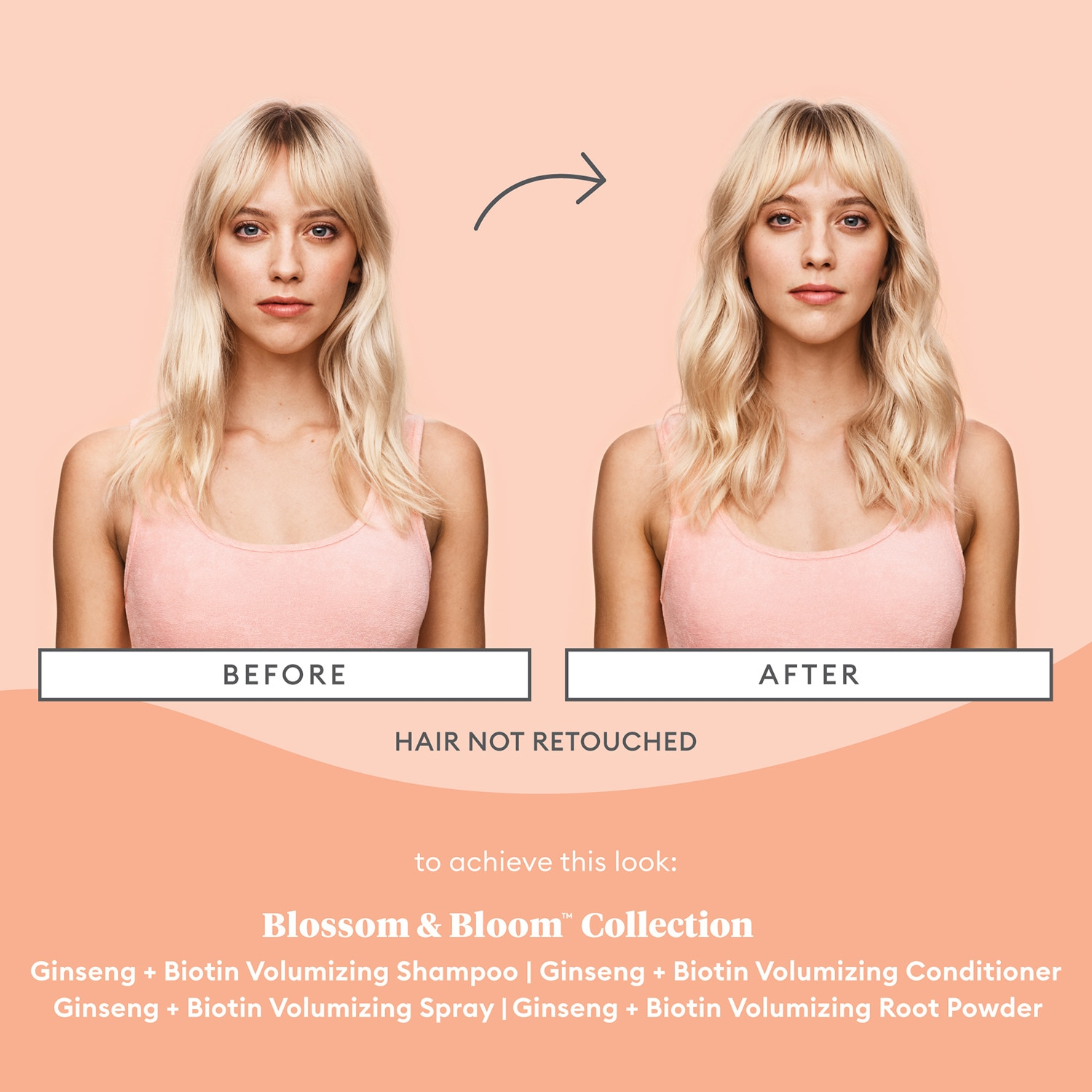 BLOSSOM & BLOOM™ GINSENG + BIOTIN VOLUMIZING SPRAY 5OZ (SPRAY VOLUMIZANTE GINSENG + BIOTINA)
